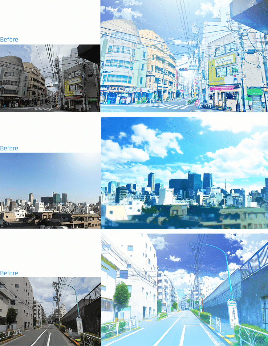 [Photoshop]将风景照片处理成插图和动画